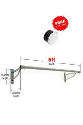 5Ft x 25mm Tube & 2 Brackets – Garment Rack Display