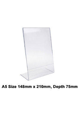 A5 Acrylic Poster Menu Holder Leaflet Display Stands