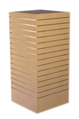 Wooden Slat Tower Display Unit
