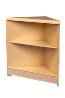 Maple Triangular Corner With Solid Top & Shelf