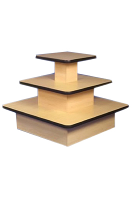 3 Tier Square Maple Counter