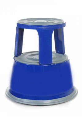 Blue Heavy Duty Metal Kick Step Stool