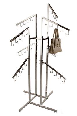 New Professional Chrome Handbag Display Rack