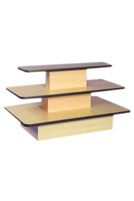 3 Tier Rectangular Maple Counter
