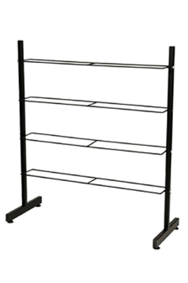 4 Tier / Multi Shelf Shoe Footwear Display Rack