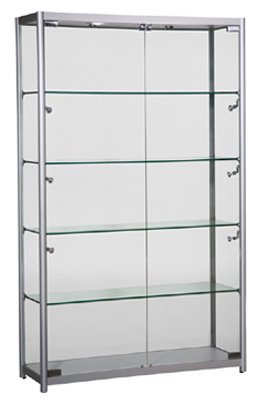 Aluminum & Glass Tower Display Cabinet