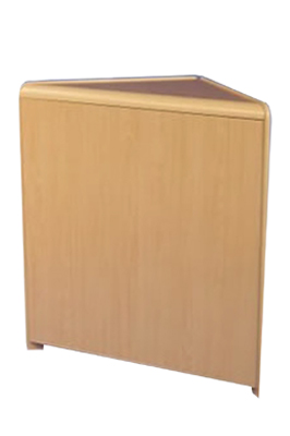 Maple Triangular Corner With Solid Front