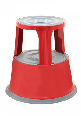 Red Color Heavy Duty Metal Kick Step Stool