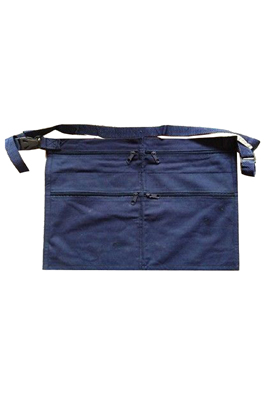 6 Pocket Black Denim Market Trader Money Belt Bag