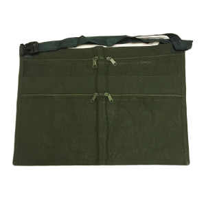 6 Pockets Army Green Market Trader Money Belt Bag Apron Pouch Adjustable Waist Strap
