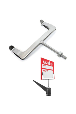 Chrome Price Card Holder – Screw In