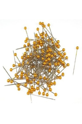 144 Pearl Gold Head Dress Making Craft Pins