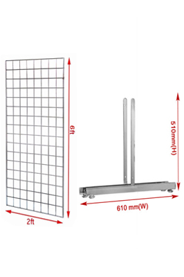 New 6ft GridWall Mesh Panel With T-Leg Pair