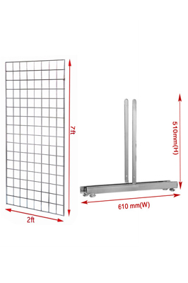 New 7ft Gridwall Mesh Panel with T-Leg Pair
