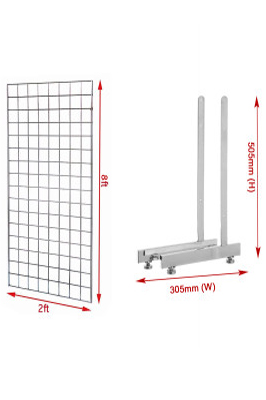 New 8ft Gridwall Mesh Panel With L-Leg Pair