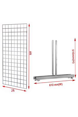 New 8ft Gridwall Mesh Panel With T-Leg Pair
