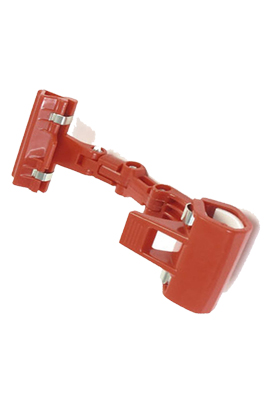 Double Clamps Maroon Red Plastic Poster Pop Display Clip