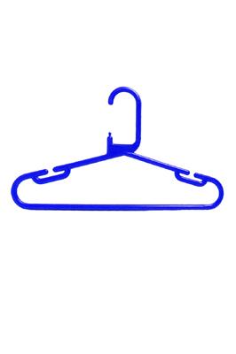 Strong Heavy Duty Blue Plastic Kids Baby Hanger