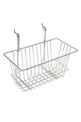 "Gridwall Shelving Narrow Basket (12""x 6""x 6"")"