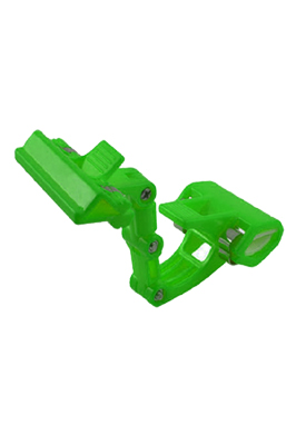 Double Clamps Green Plastic Poster Pop Display Clip
