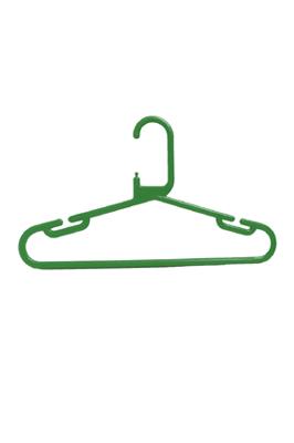 Strong Heavy Duty Green Plastic Kids Baby Hanger