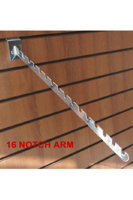 16 Notch Arm For Slatwall Clothes Display