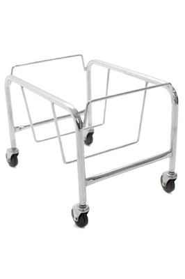 Heavy Duty Plastic Shopping Basket  Stand chrome