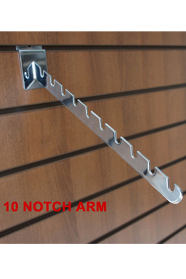 10 Notch Arm For Slatwall  Clothes Display