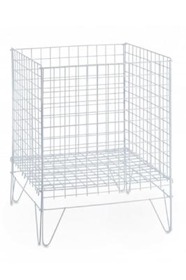 White Dump Bin Basket 60cm SQ