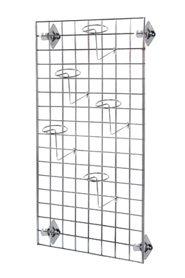 4Ft Gridwall Mesh Panel with Hat Arms and brackets