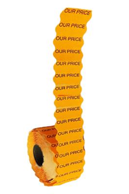 45,000 x Fluorescent Our Price  Price Gun Labels