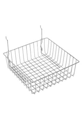 "Gridwall Mesh Storage Shelving Small Basket (12""x12""x4"")"