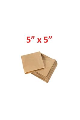 "Kraft Paper Food Bags  5"" x 5"""