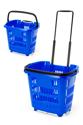 Shopping Trolley Basket (34L) Blue