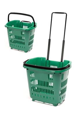 Shopping Trolley Basket (34L) Green colour