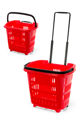 Shopping Trolley Basket (34L) Red