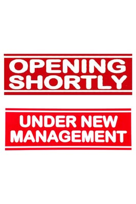 Opening Shortly & Under New Management pack of 1