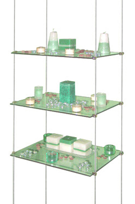 Toughened Glass Cable Shelving System