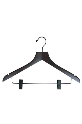 Economy Black Trouser Hangers with Clips