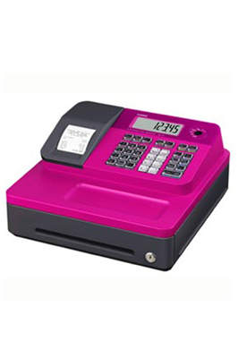 Pink Casio SE-G1 Cash Register Till With 20 Roll