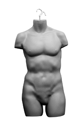 Silver Hanging Male Torso – Full