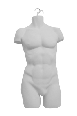 White Hanging Male Torso – Full