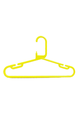 Strong Heavy Duty Yellow Plastic Kids Baby Hanger