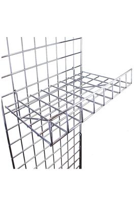 Gridwall Shelf With Lip