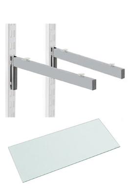 Glass Shelf Brackets for Upright Suction Pads
