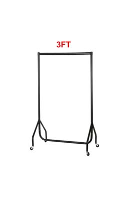 Black Garment Rail 3 X 5 FT