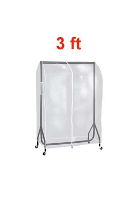 Clear PVC Garment Rail Cover 3FT