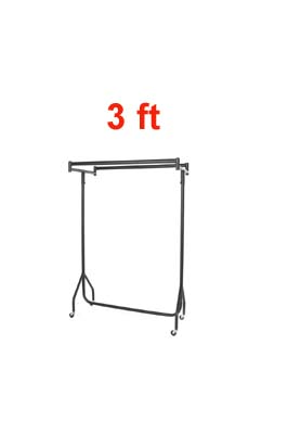 Heavy Duty Double Top Garment Rail 3 FT