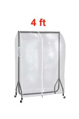 Clear PVC Garment Rail Cover 4 FT