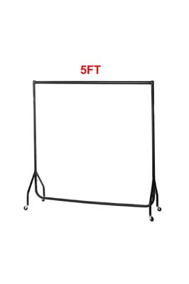 Black Garment Rail 5 X 5 FT